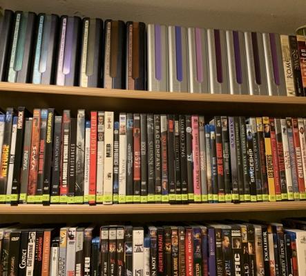 Jolie collection de DVD, 1500 DVD