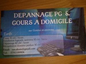 Dépannage PC  Cours à Domicile