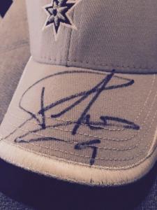 Casquette signée par Tony Parker
