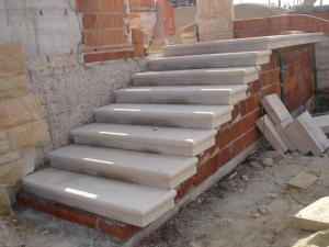 Escalier en pierre naturelle, granit