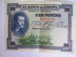 MSB : Billet de 100 pesetas de1925