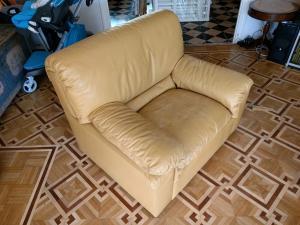 3 fauteuils d'occasion en cuir