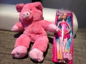 Barbie et peluche neuf