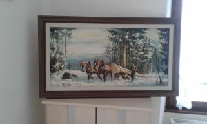 Tableau avec chevaux