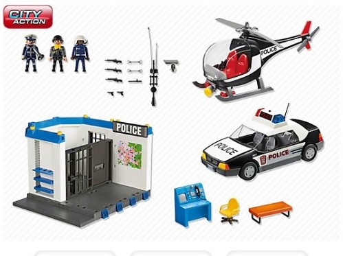 playmobil 5607 poste de police. Black Bedroom Furniture Sets. Home Design Ideas