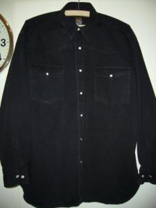 1 CHEMISE noire, Taille M, pour homme