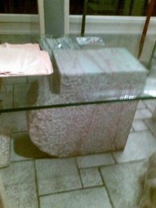 bureau moderne marbre taillé