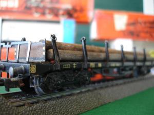 Märklin Ho 4516 Wagon transport de bois avec chargement