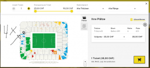 YB- Zurich billet Balcon stade de suisse Bern