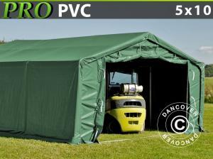 Lagerzelt PRO 5x10x2x2,9m, PVC, Grün