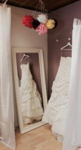 Dépôt-vente de robes de mariage.