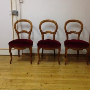 Chaises style louis philippe 3x