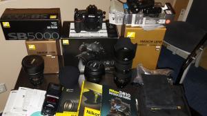 Nikon D 810 avec des objectifs professionnels