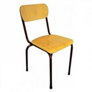 Chaise en bois pieds marron