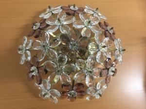 Plafonnier  fleurs en pendeloque cristal