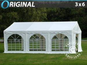 Partyzelt Original 3x6m PVC, Weiß