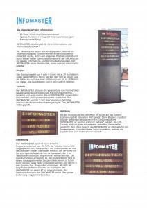 Ecrans de communication Infomaster
