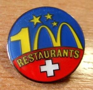 Pin´s 100ans restaurants Suisse