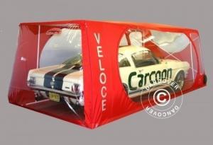 Carcoon Veloce 4,33x2,3 m Durchsichtig/Rot, Innenbereic