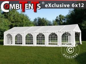 Partyzelt, Exclusive CombiTents® 6x12m 4-in-1, Weiß