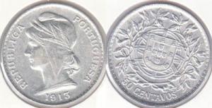 50 Centavos - 1913 Argent