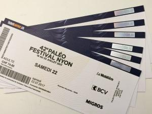 Vend ticket paléo