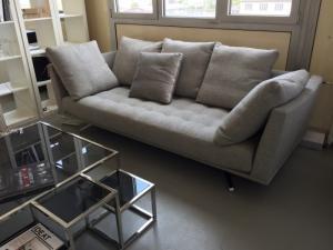 2 canapés haut-de-gamme gris