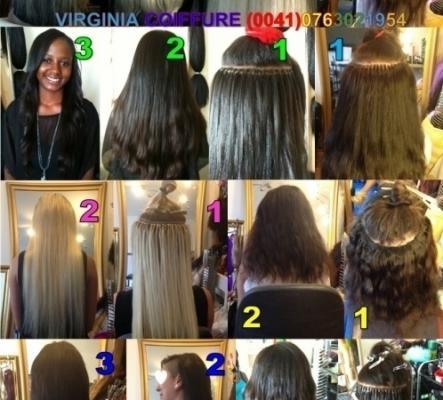 Extensions aux micros anneaux / cheveux naturels