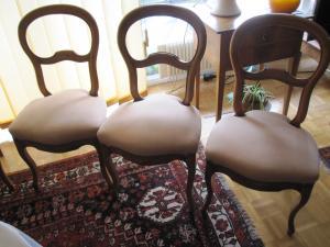 Antiquités : 6 chaises Louis Philippe