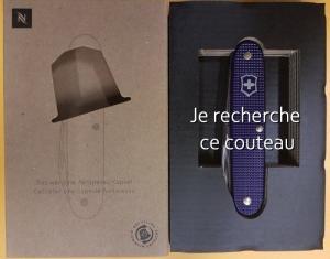 Couteau Victorinox Nespresso Violet