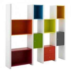 Bibliothèque KAWA multicolor 4 colonnes