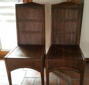 Chaises originales teck et bambou