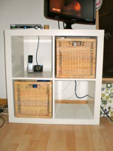 Etagère (et meuble télé) blanc