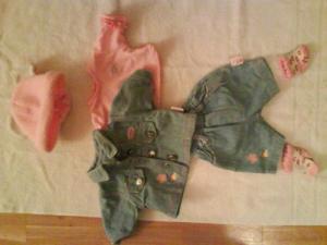 Habits Baby Born jeans et rose