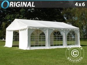 Partyzelt Original 4x6m PVC, Weiß