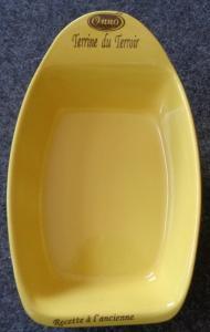 Grand Plat pour Terrine jaune