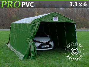 Zeltgarage PRO 3,3x6x2,4m PVC, Grün
