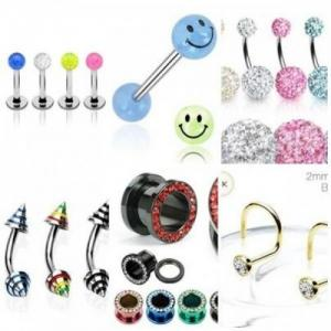 Vends piercings, faux piercings, tattoos