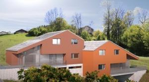 Villa jumelle vendue sur plans avec joli jardin et terrasse