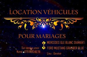 LOCATION VEHICULES MARIAGE AVEC CHAUFFEUR