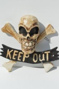 "Tête de mort pirate ""keep out""²"