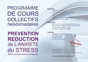 Cours collectifs sur la réduction de l'anxiété du stress