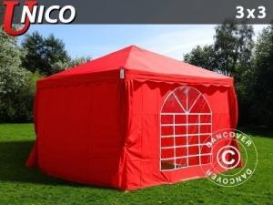 Partyzelt UNICO 3x3m, Rot