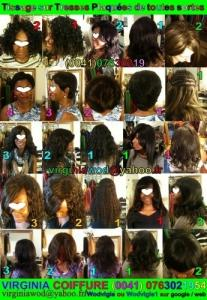 African hairstyle Extension with keratin