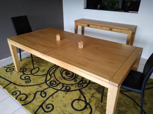 Table et console chêne massif