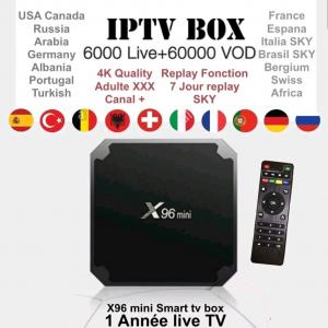 Box ipTV Android X96 Mini 4K 6000 chaînes tv en HD
