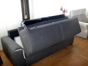 Canapé lit GORINI 3 places haut de gamme déhoussable neuf