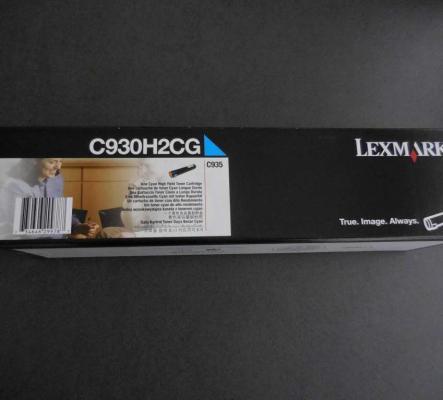 Toner Lexmark C930H2CG Original, Cyan, 24000 p