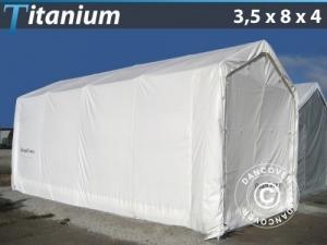 Lagerzelt Titanium 3,5x8x3x4m, Weiß