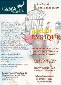 Atelier Lyrique Amamusique cherche chanteur basse